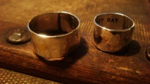 Our wedding rings. This is the first day of my life.